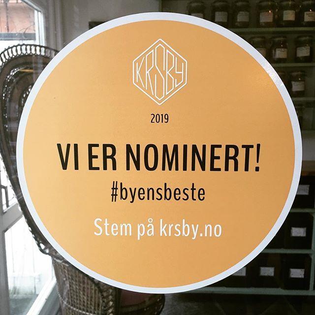 Wow! @spirenkafe er nominert til byens beste spisested! Please stem på oss, hvis du er enig🙏