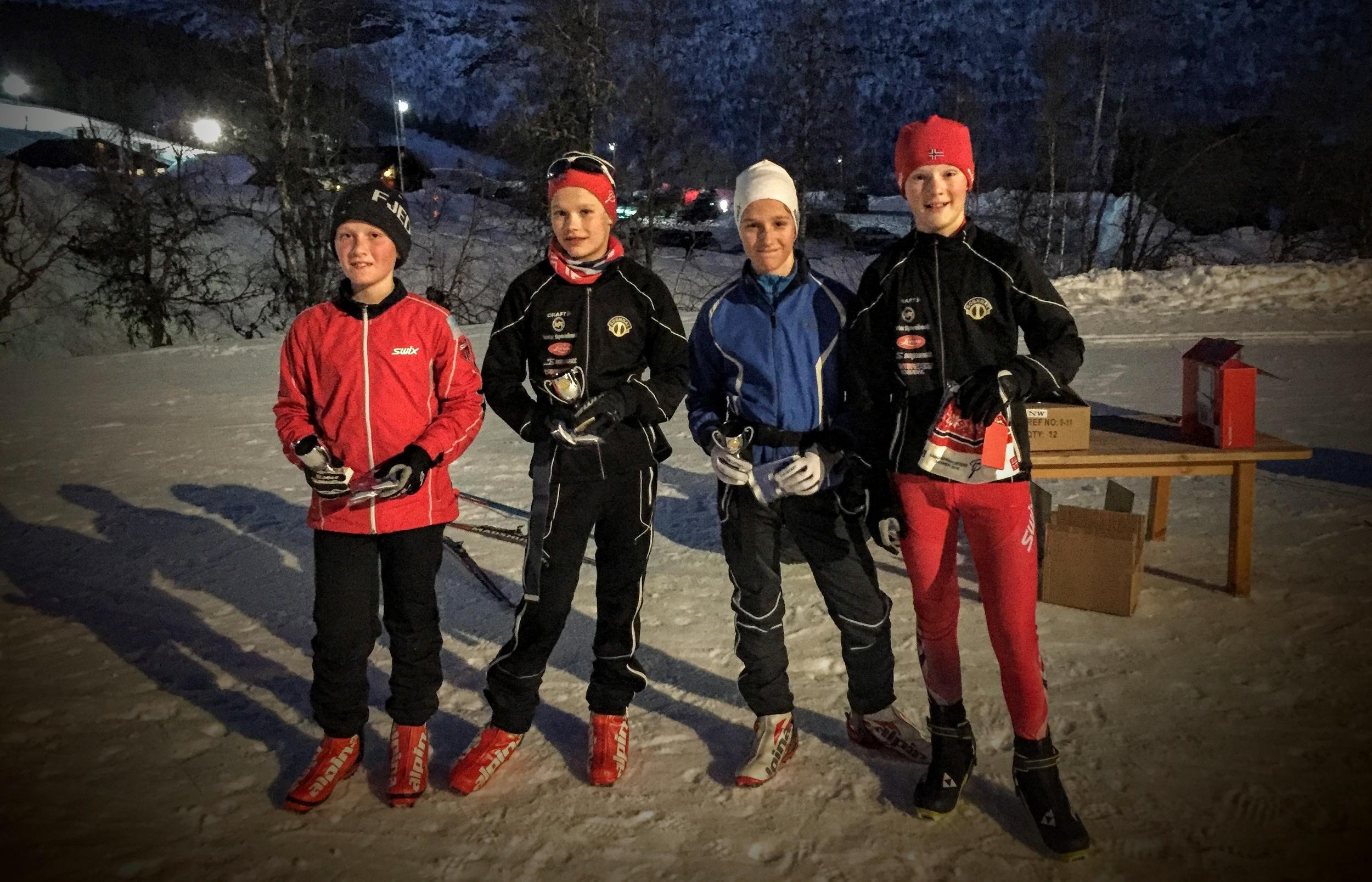 Gutter 14 er fornøyde etter godt gjennomført renn