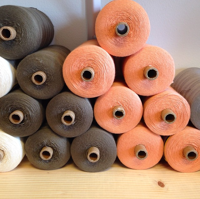 Cotton for our table linens and decorative pillows for the collection...