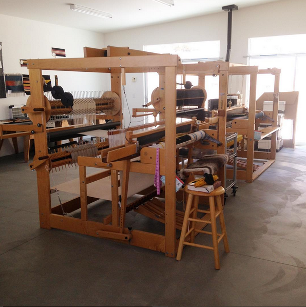 Andrea Zittel's studio, A-Z West in Joshua Tree where I will be weaving the first area rug for the colleciton!