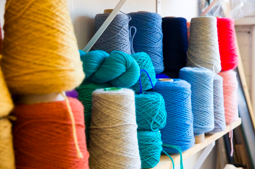 Materials in my studio. Photo by Mike Killion for Saturate.