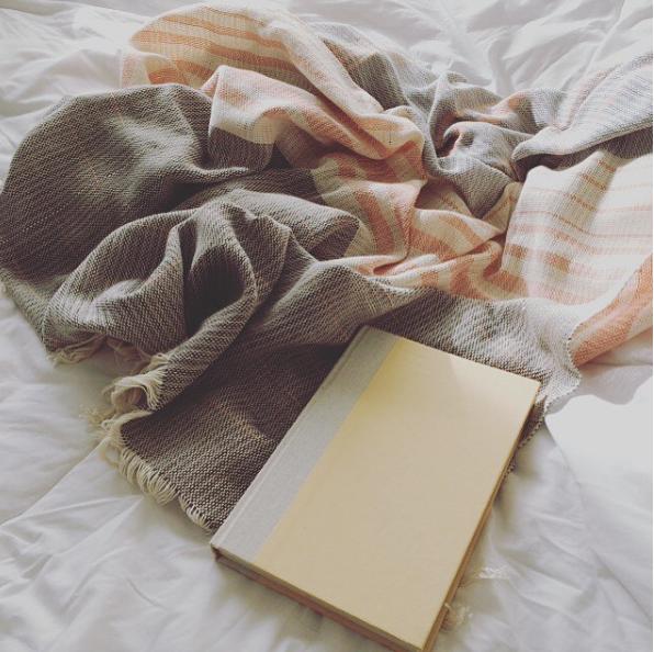 The Sunset Blanket, original handwoven sample.