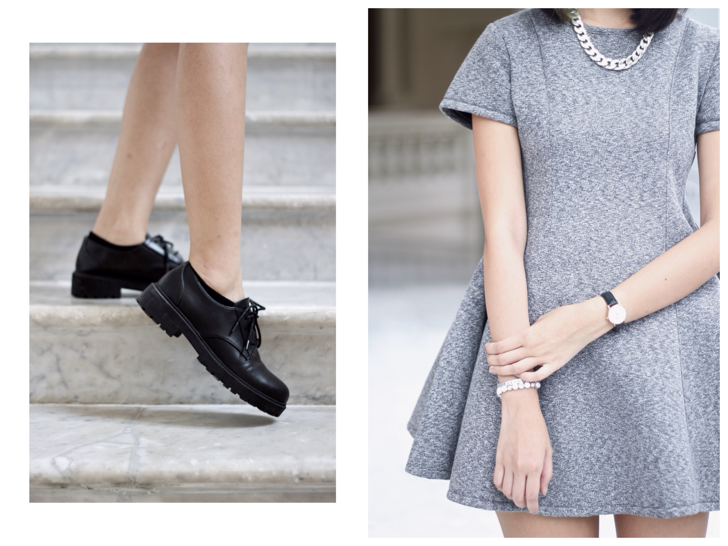 On me: Dress from    Tracyeinny  ,  necklace and shoes  from H&M,  watch from  Daniel Wellington  .
