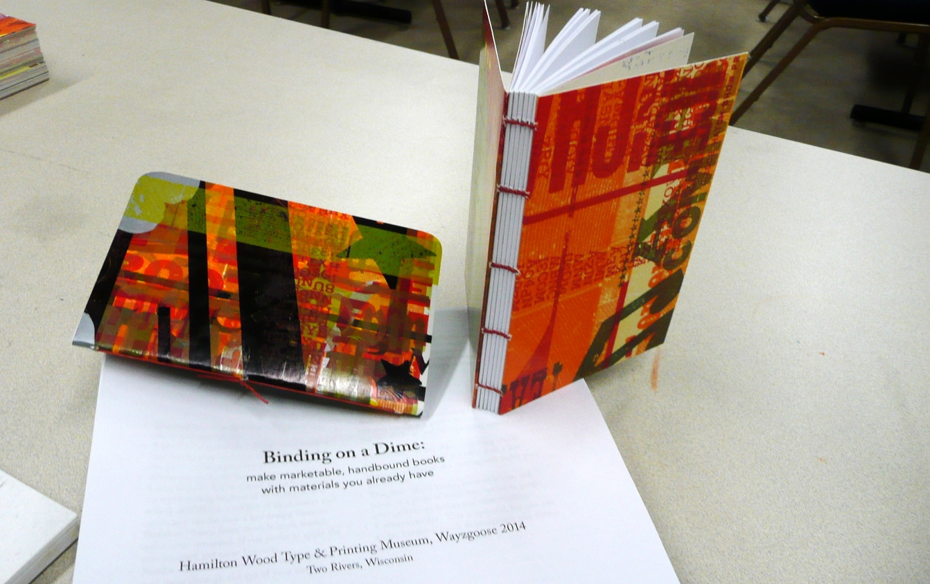 "Nearly 30 students attended my workshop: ""Binding on a Dime"" a class focused on how to start bookbinding in a printshop setting with little investment."