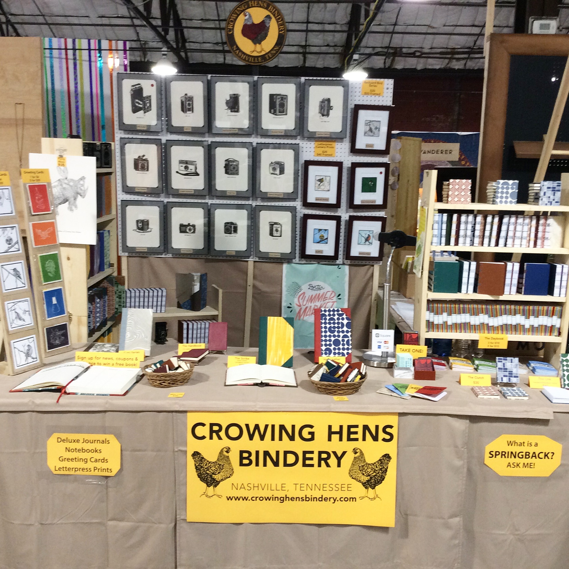 First time designing a booth setup. Many books to touch and hold!