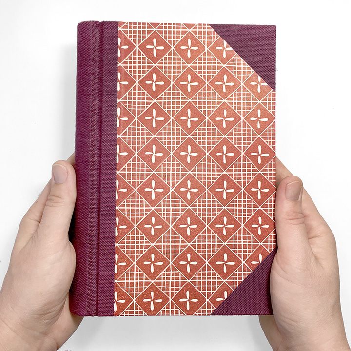 The Scribe Springback Journal in Merlot and Brick Red