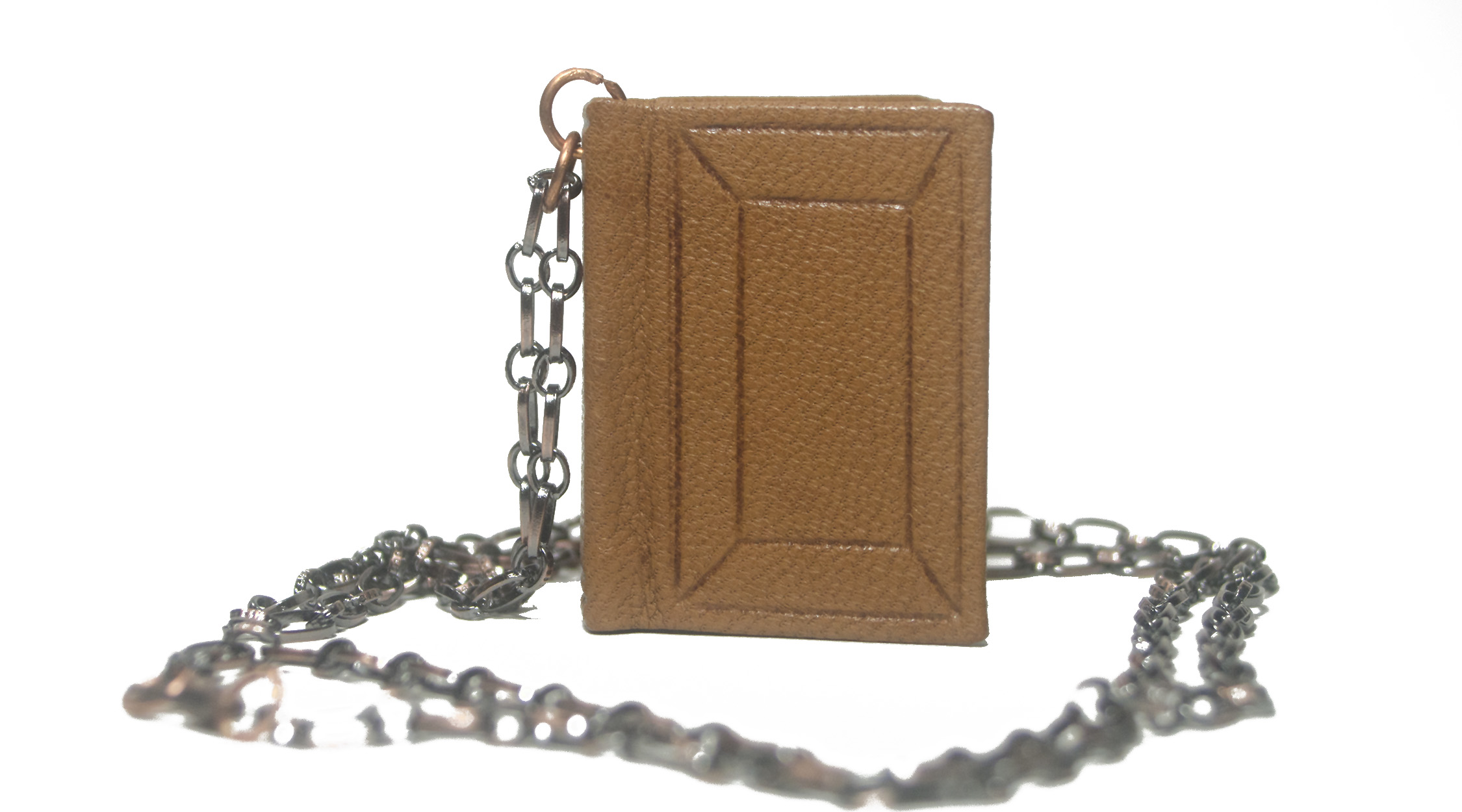 Handmade leather book pendant necklace