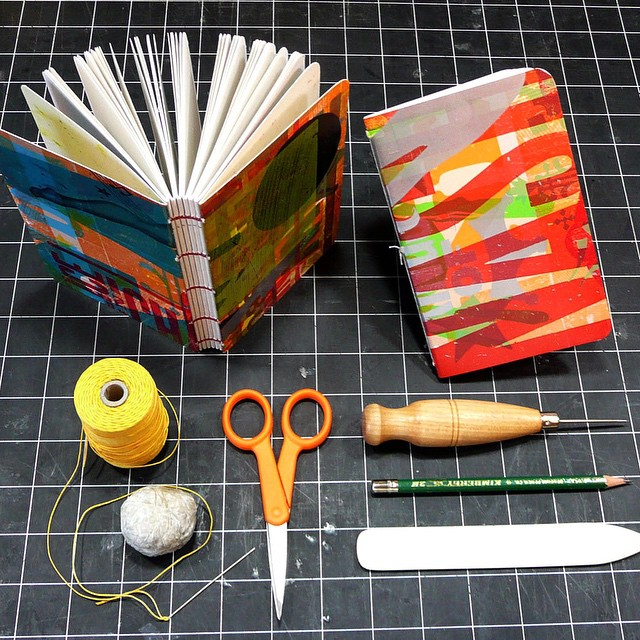 Learn to make the most of printer's waste and makereadies by making beautiful, functional books!