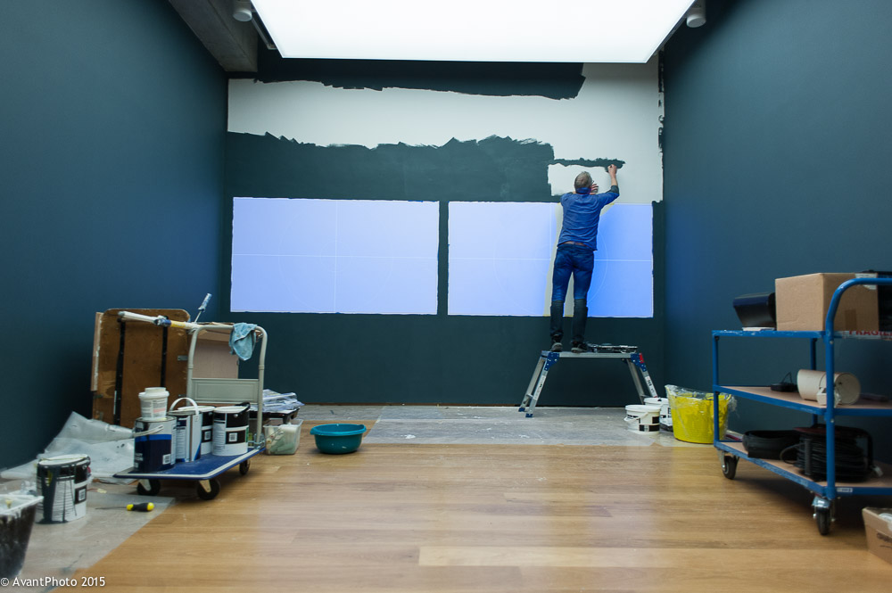 Painting video room - Towner Eastbourne