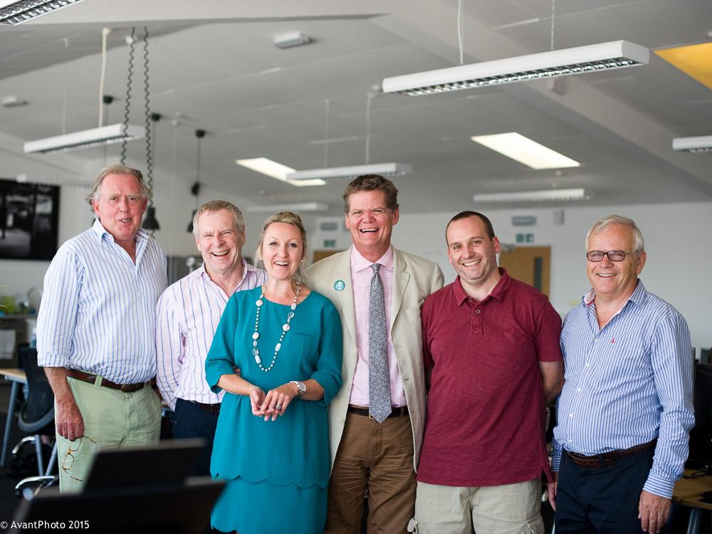 Stephen Lloyd MP with Stuart Lambert, Denise Harwood - Enterprise Centre at Cohub