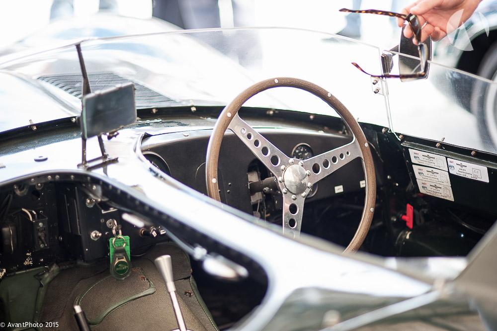 Cockpit of 1956 Jaguar D - Type Long nose