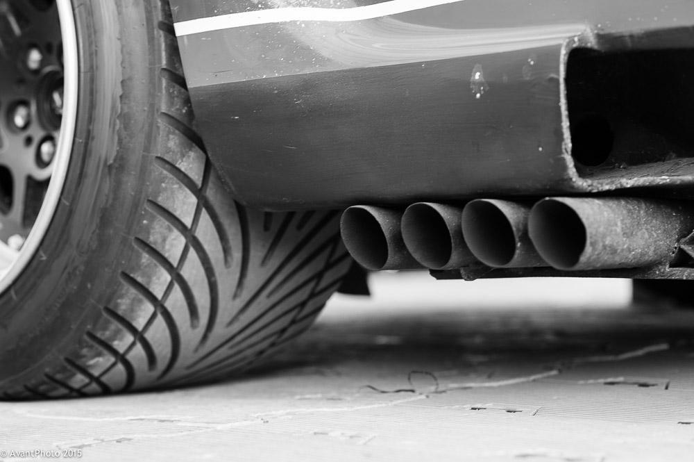 Jaguar XJ12C exhaust pipes
