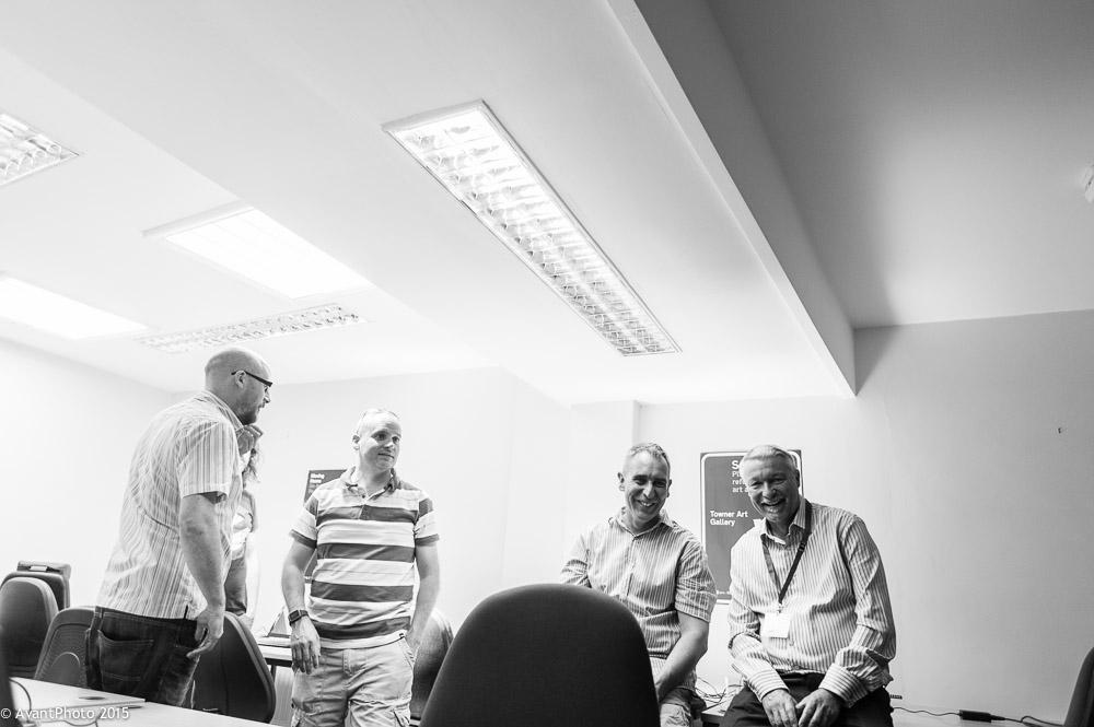 TechResort team mentors chat at launch