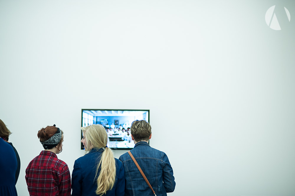 Eastbourne students at Towner Julian Germain exhibition