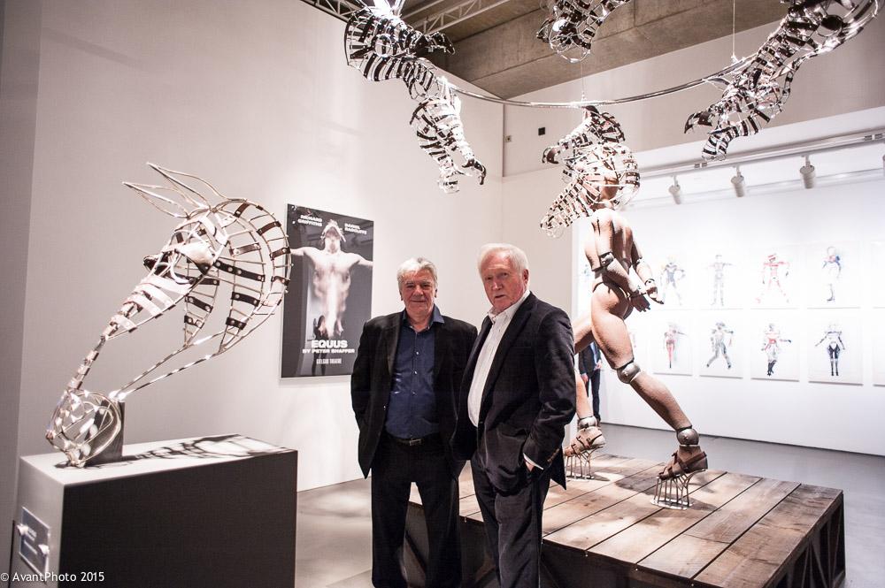 David Dimbleby & John Napier Equus exhibit