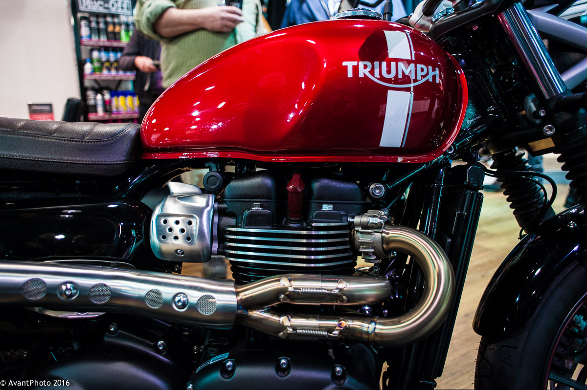 Red Triumph Street Twin