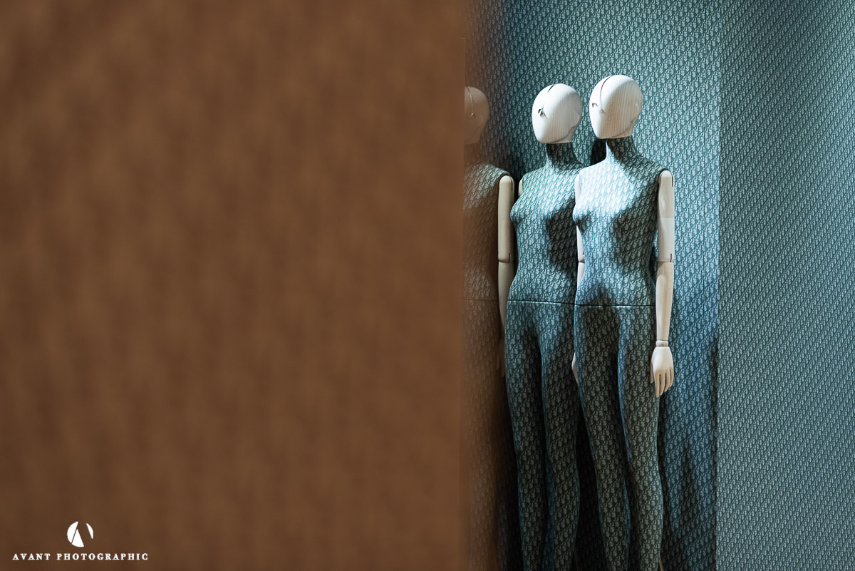 Harrods Coloured bespoke Dior Mannequins