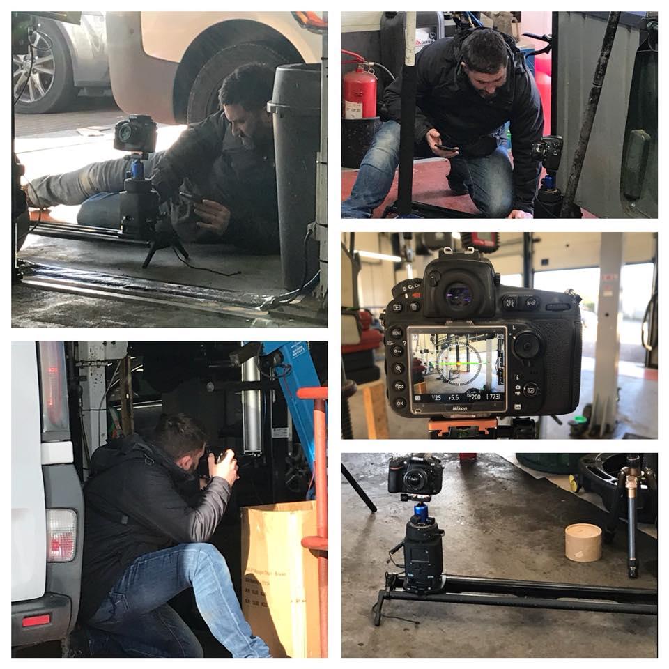 Phil - Shooting a DitL at Lushington Motors.