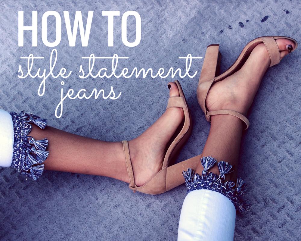 how to style statement denim