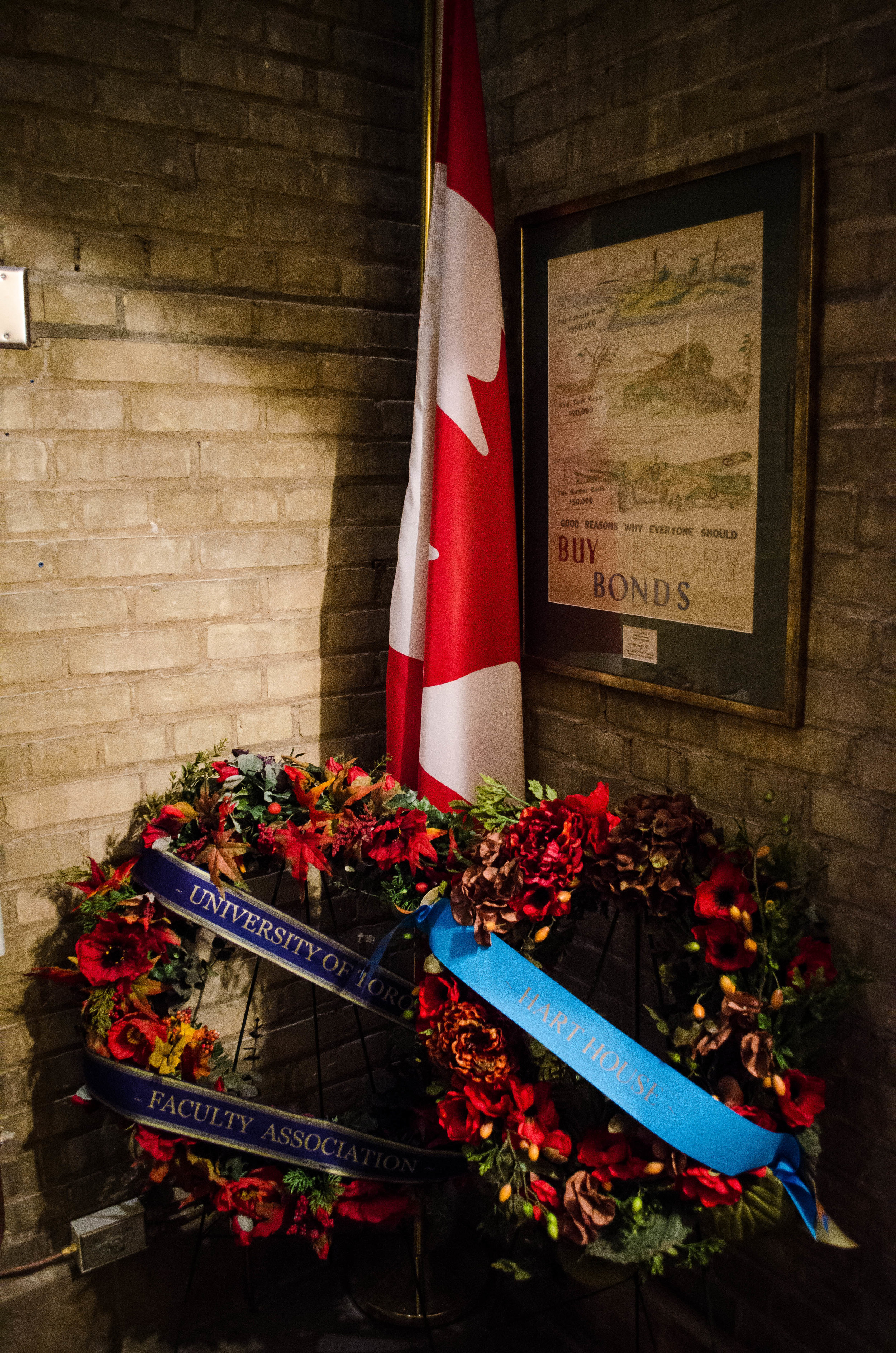Unviersity of Toronto's Rememberance day ceremony is held at Soldiers' Tower every year on Remembrance Day, November 11th