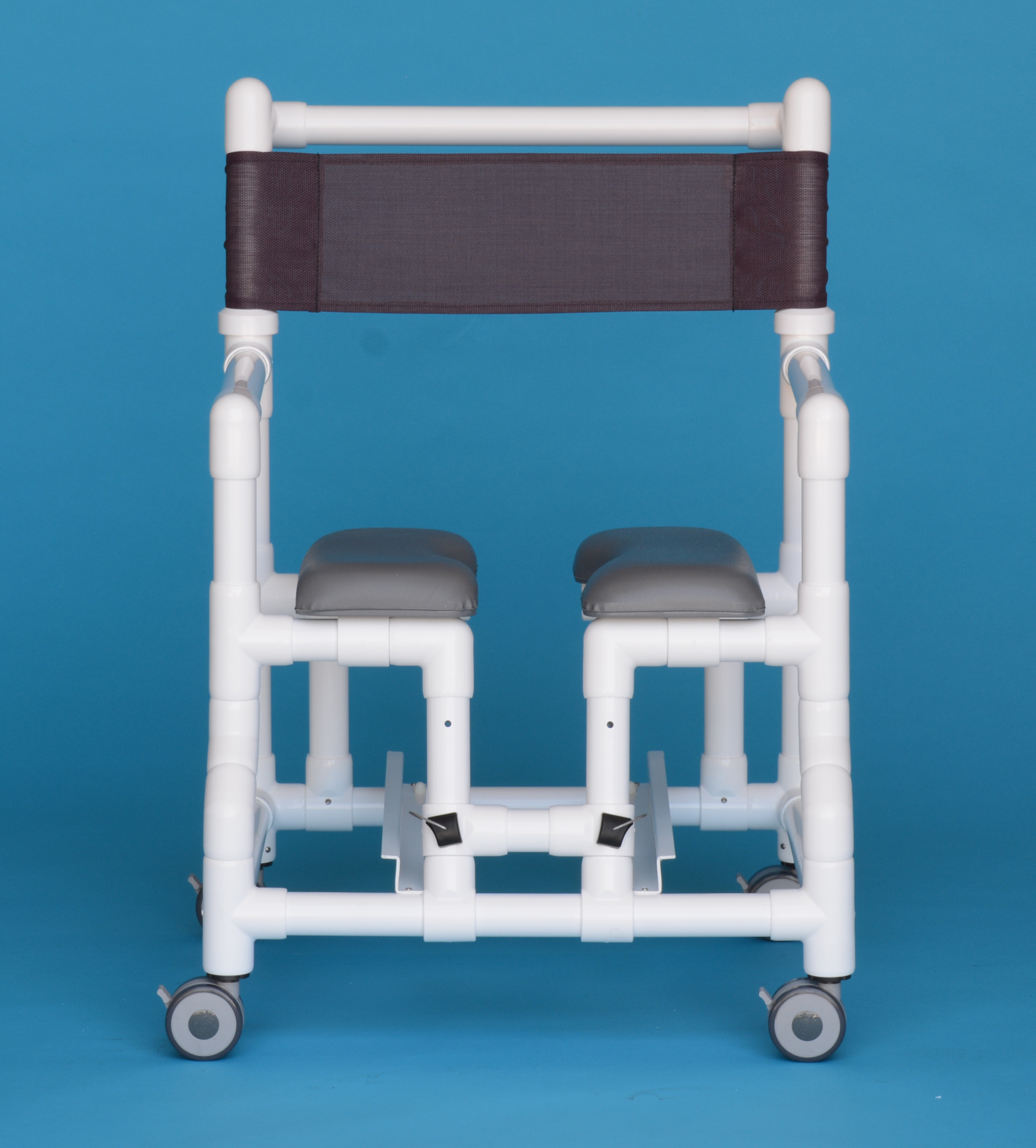 The Patented Storm Shower Chair (Patent No. 8,677.520 B2) is designed to give total access to a patient during cleaning and provide a safer bathing experience, and prevents the risk of spreading E.Coli . The split sear design allows for a more comfortable and dignified experience for the patient that is easier for the staff.