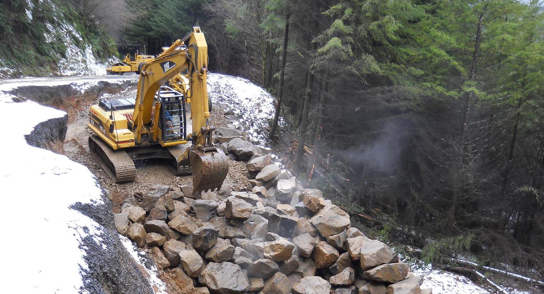 Logsden Road Slide Repair | Lincoln County, Oregon