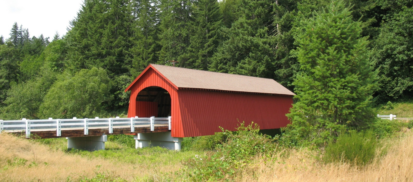 Fisher School Covered Bridge   Lincoln County, Oregon