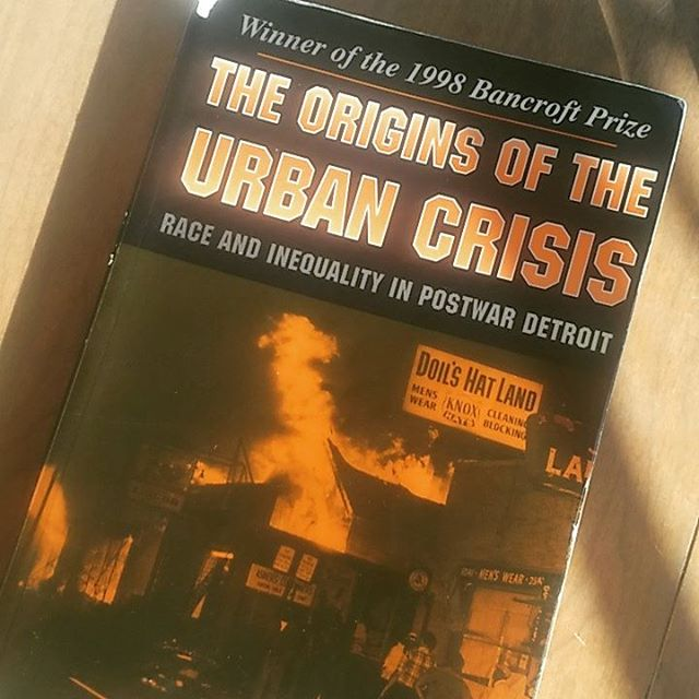 Recommended reading: Origins of the Urban Crisis, Race and Inequality in Postwar Detroit by Thomas Sugrue. #history #detroit #racism #housing #anthropology #urbananthropology