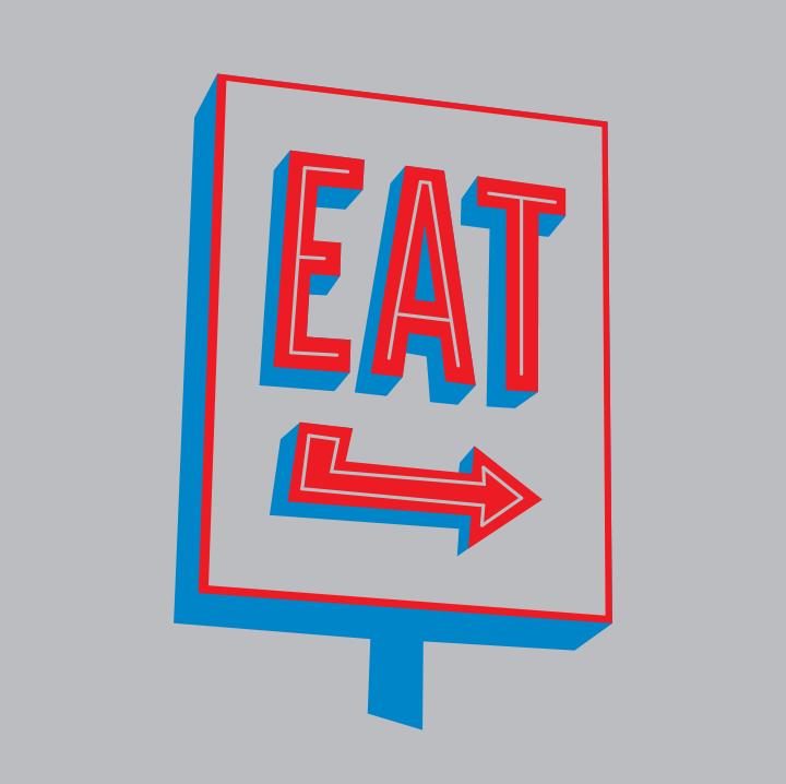 Eat Sign Illustration
