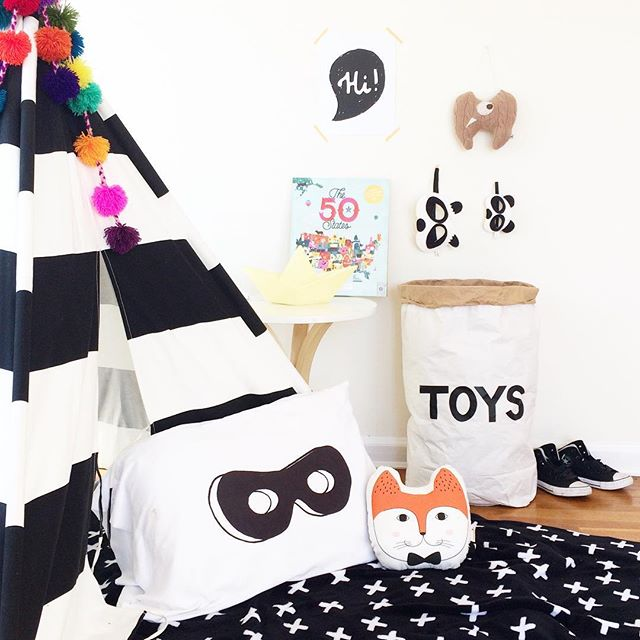 I spy a fox pillow in this cozy play corner! 🦊 Tap image for details! 💕