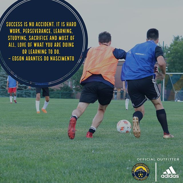 Success is no accident. It is hard work, perseverance, learning, studying, sacrifice and most of all, love of what you are doing or learning to do.– Edson Arantes do Nascimento #motivationmonday . . #RSA2019 . . ————— . #youthsoccer #soccer #football #adidas #youthfootball #soccertraining #skills #soccerlife #soccerskills #futbol  #regissoccer #tekkers #youthsports #regisrangers #training #soccercamp #soccermom #soccercoach #photooftheday #fifa #worldcup