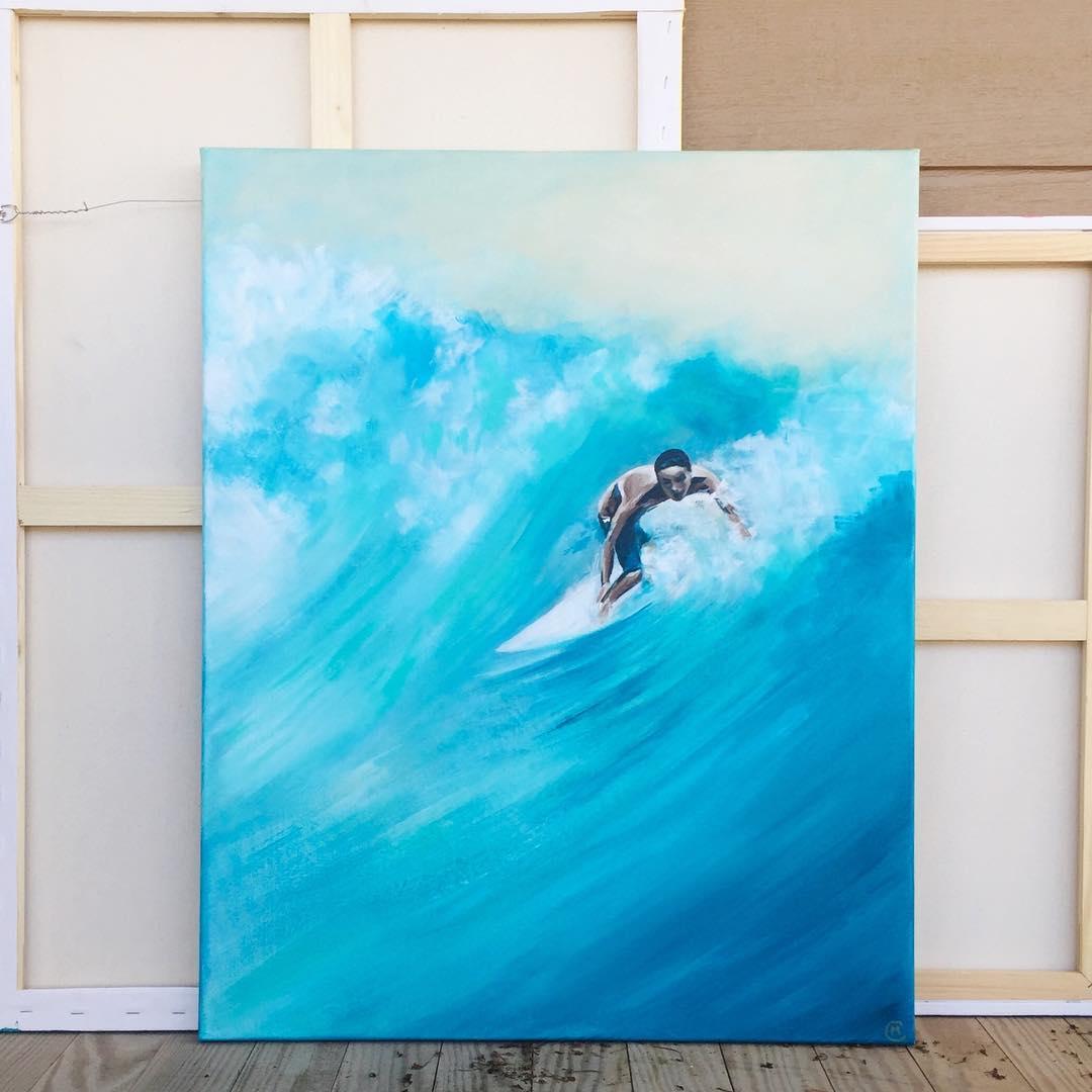 """Into the Blue"" 22 x 28 x 1, Acrylic on Canvas"
