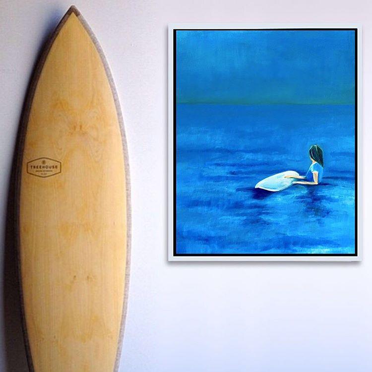 """""""The Calm at Folly"""" 22 x 28 x 1 Acrylic on Canvas"""