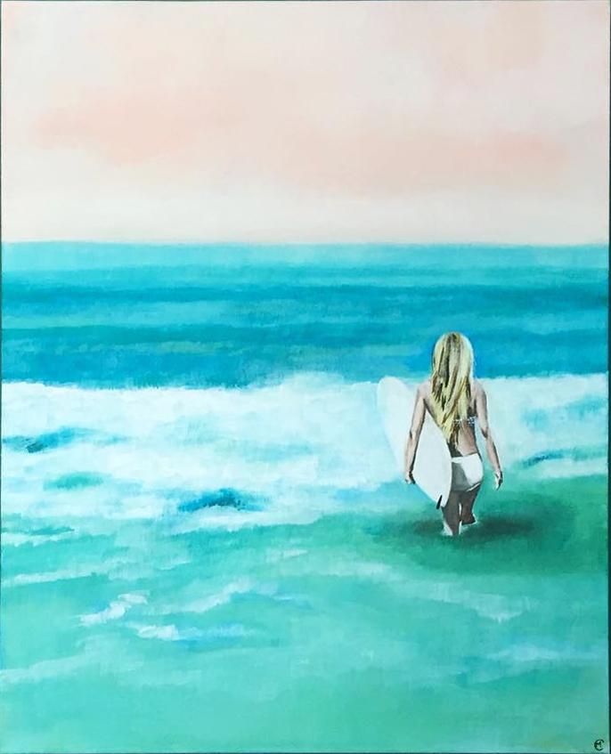 """The White"" 22 x 28 x 2 Acrylic on Canvas"
