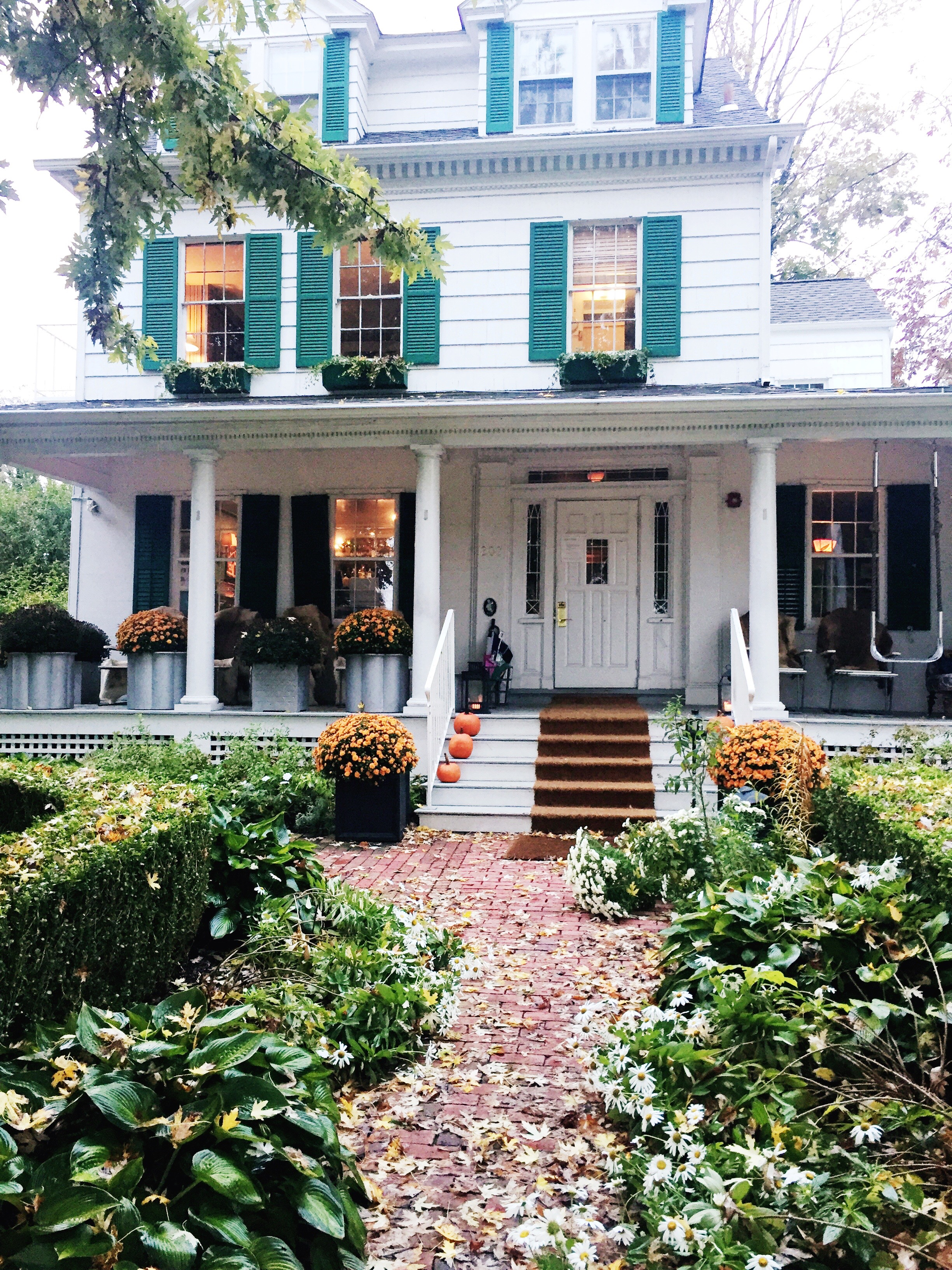 The front of c/o The Maidstone, located in a traditional Hamptons style home.