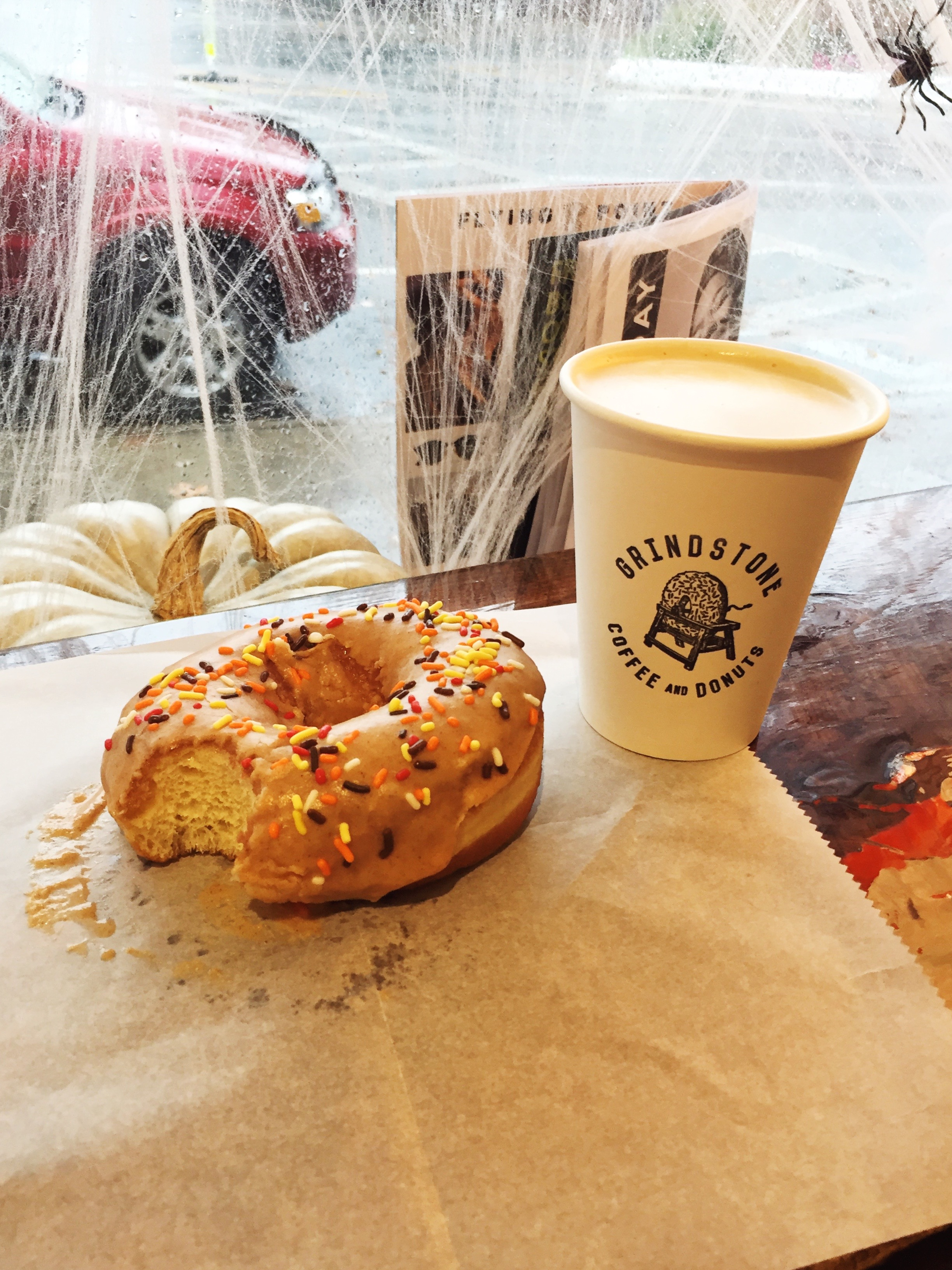 My pumpkin spiced donut from Grindstone