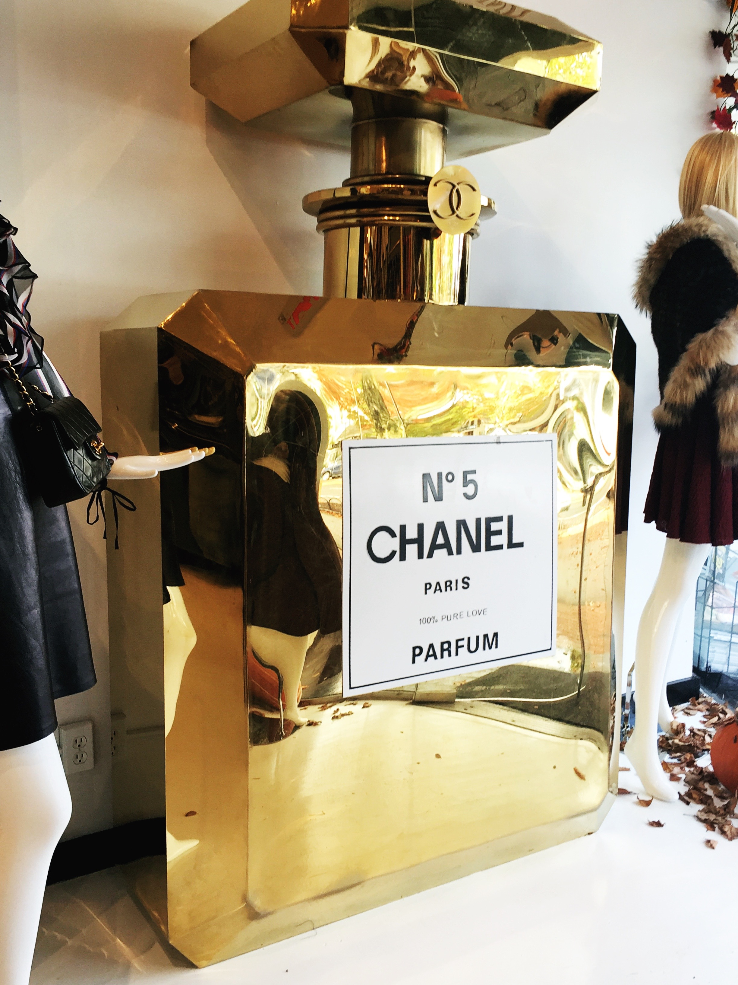 A 6 ft Tall Chanel Bottle located in  What Goes Around Comes Around  in East Hampton. I mean who doesn't need this?
