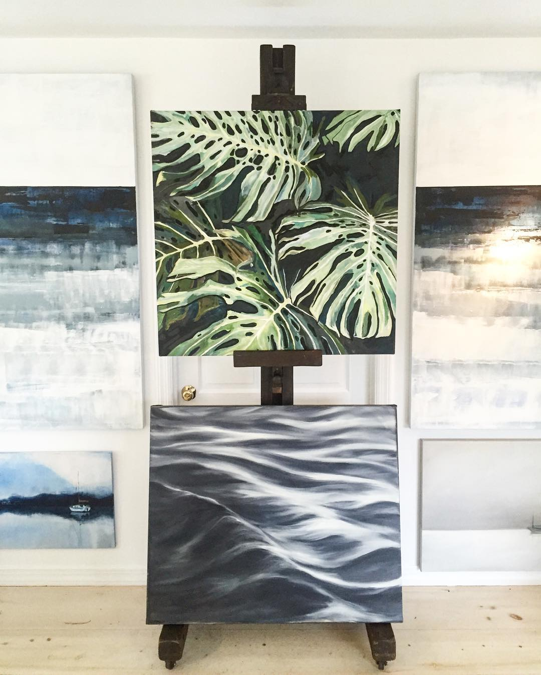 Image via Destination Haus. (My sailboat is bottom left, the other are by Sam Malpass.)
