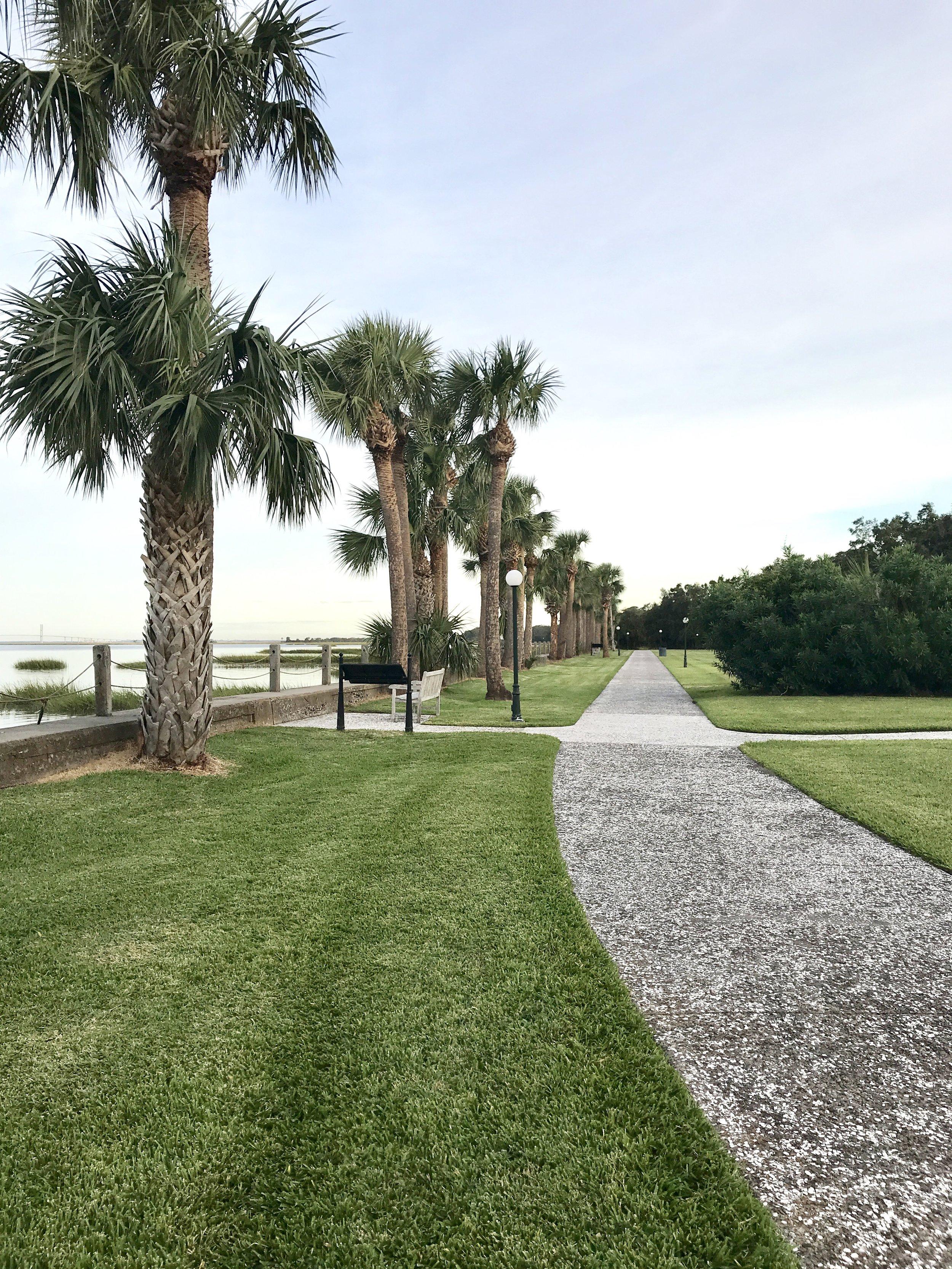 View of riverside walkway, Jekyll Island Club