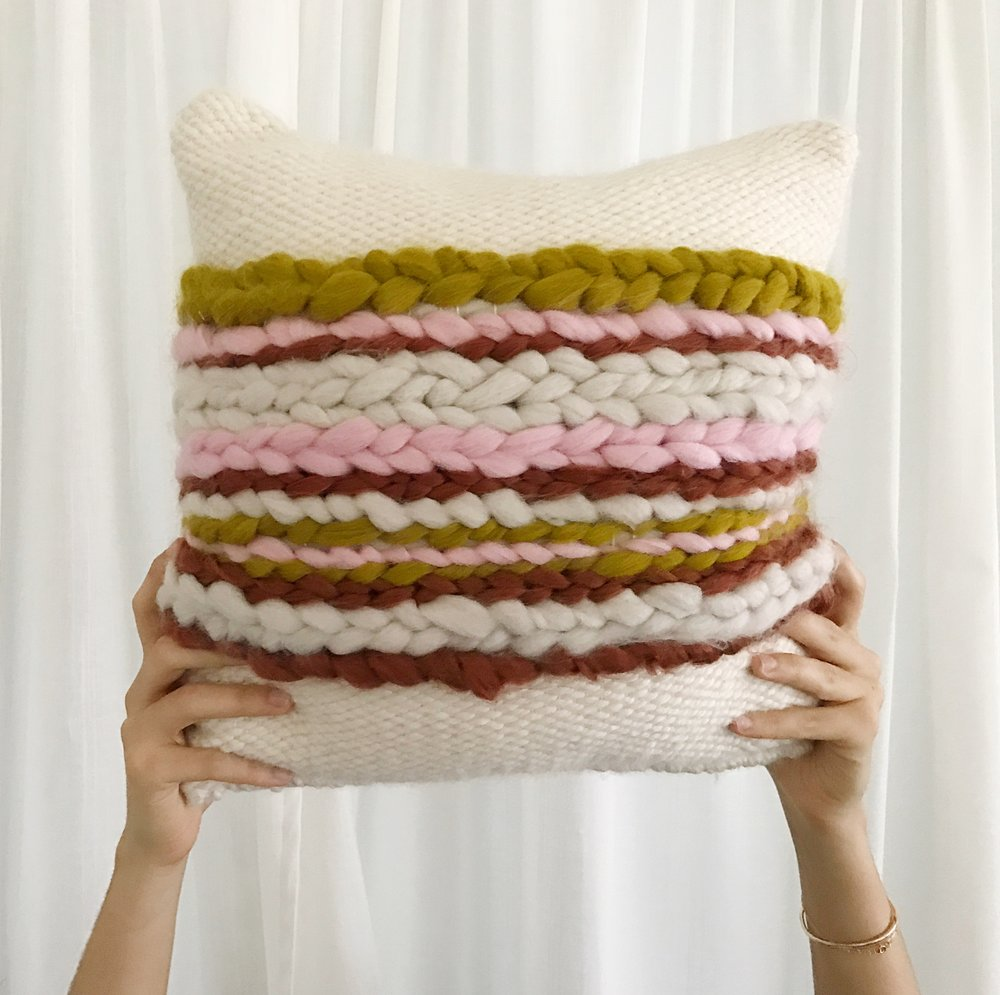 Pillows by Sunwoven, $85 and up  @sunwoven  //  sunwovenstudio.com