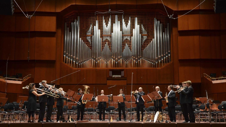 BACHBLECH&BLUES beim Festakt zum 40-jährigen Jubiläum der Jungen Deutschen Philharmonie am 13.10.2014 in der Alten Oper in Frankfurt (Foto: Stephanie von Feilitzsch)