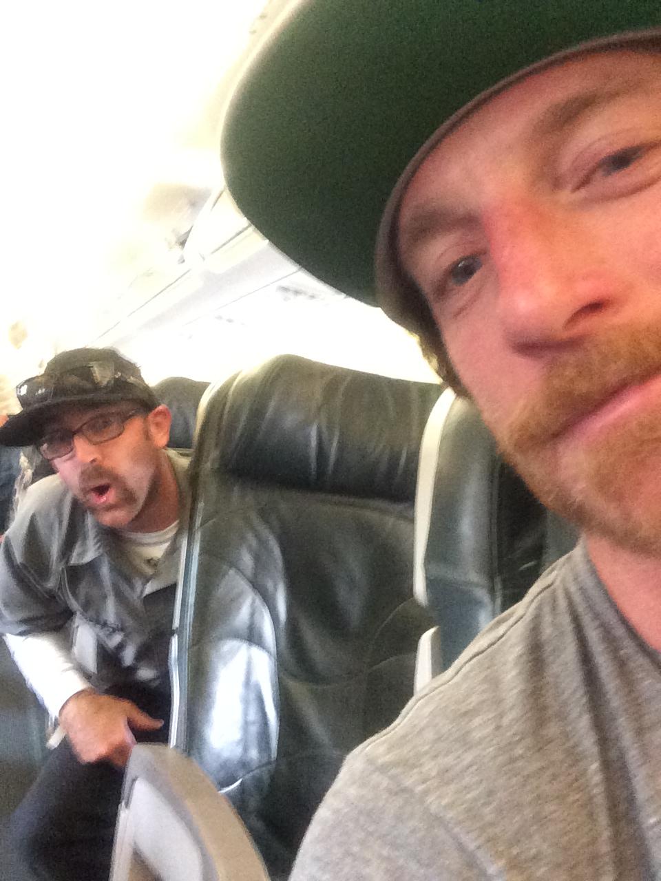 Alan and me on the plane