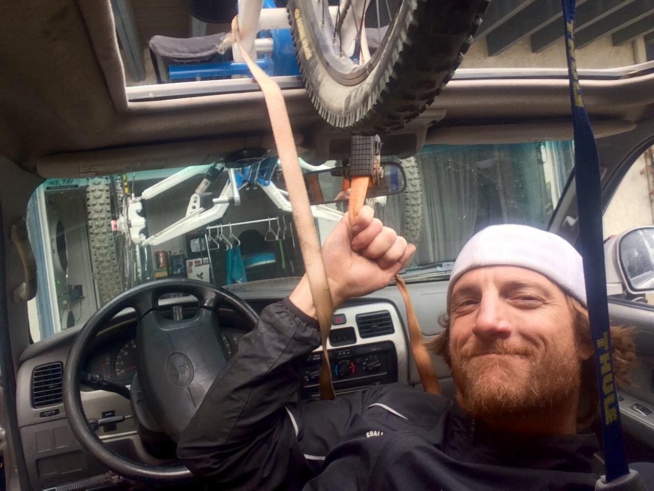 I hoisted my bike on top of my car myself. Super proud but shitty gas mileage.