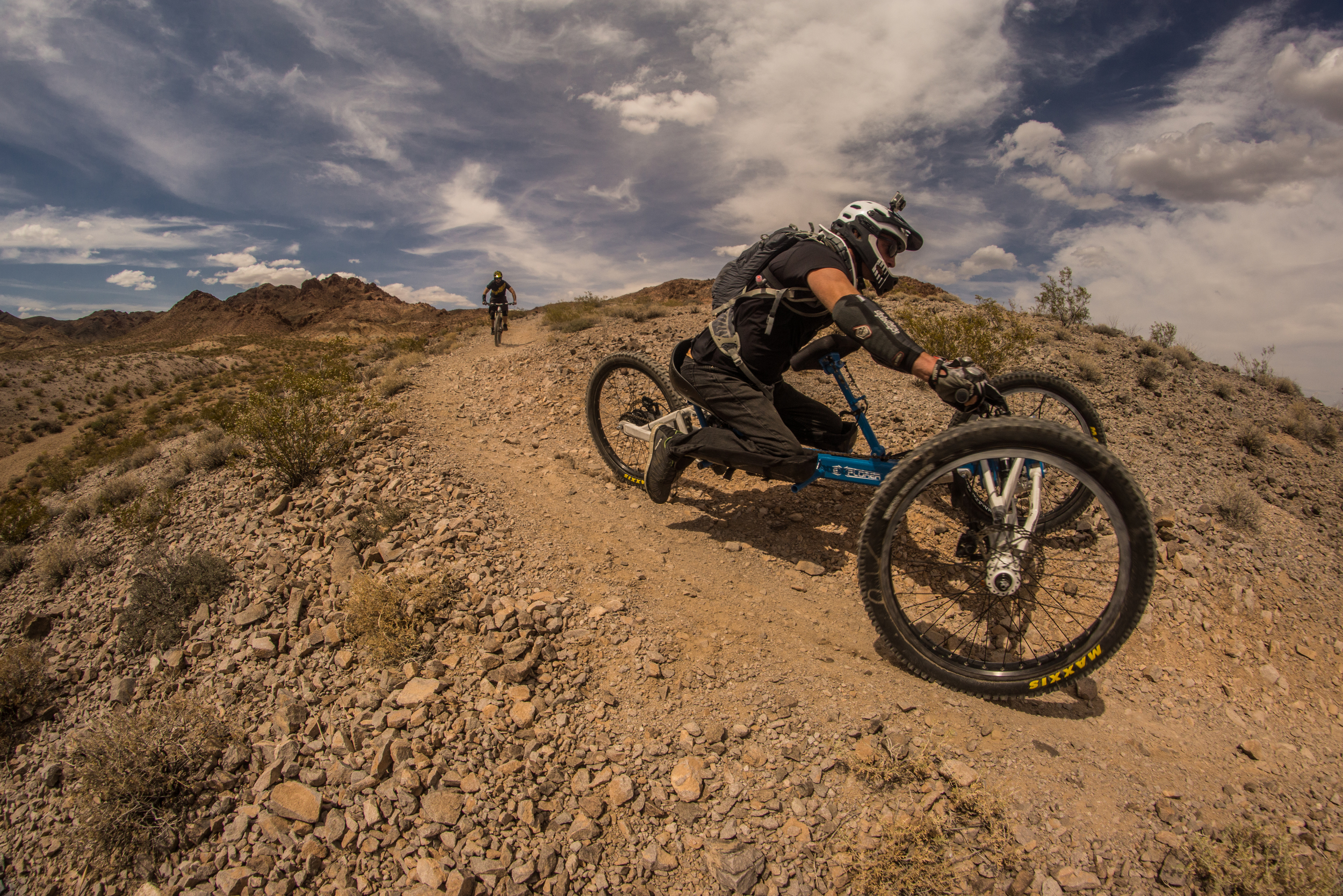Bootleg Canyon, Boulder City, NV.Running tubeless for the first time! The guys at All Mountain Cyclery really took care of us. Thats Fucci (total shredder) behind me.  Photo by Jeff Fox ( @foxonarock )