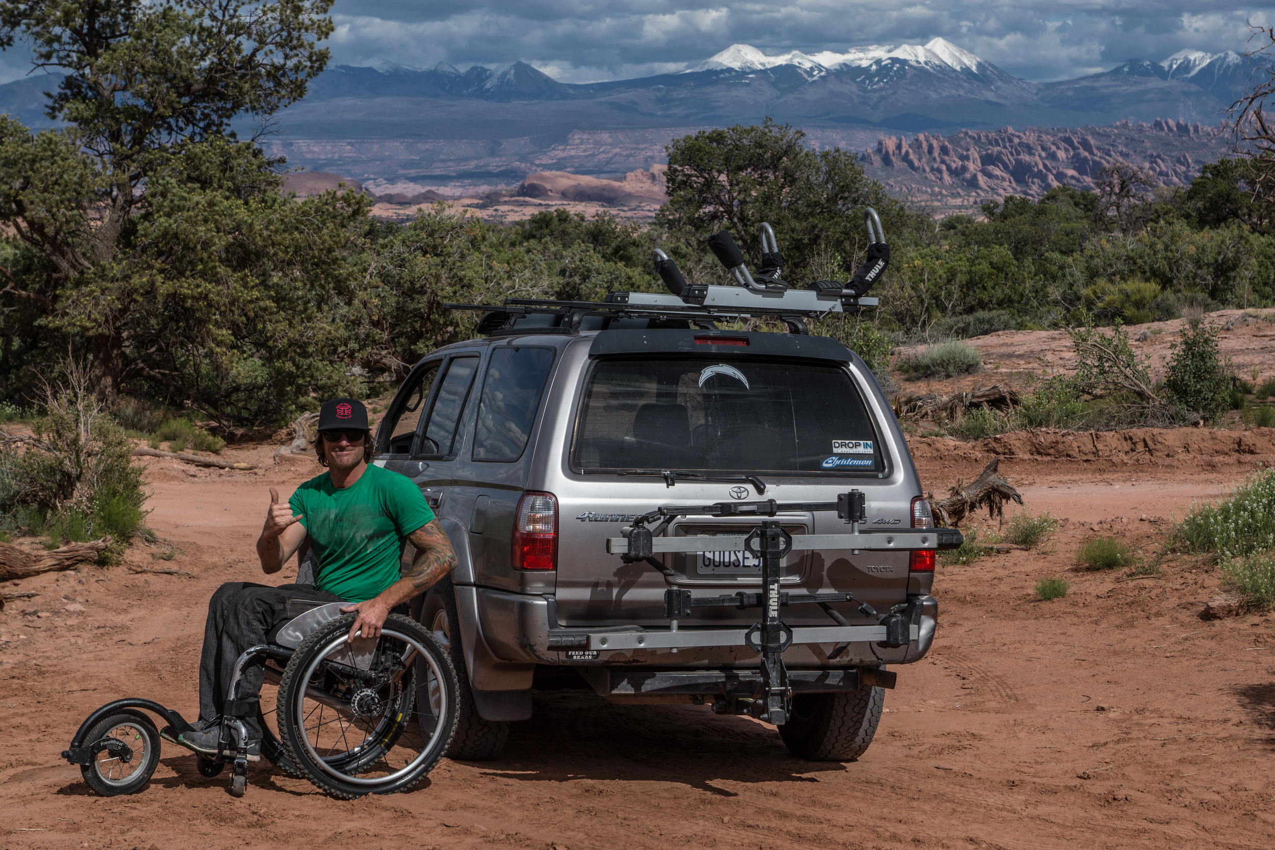 Pausing for a Free Wheel, Thule and Toyota advertisement. There ya go Pat!   Photo by Jeff Fox (  @foxonarock  )