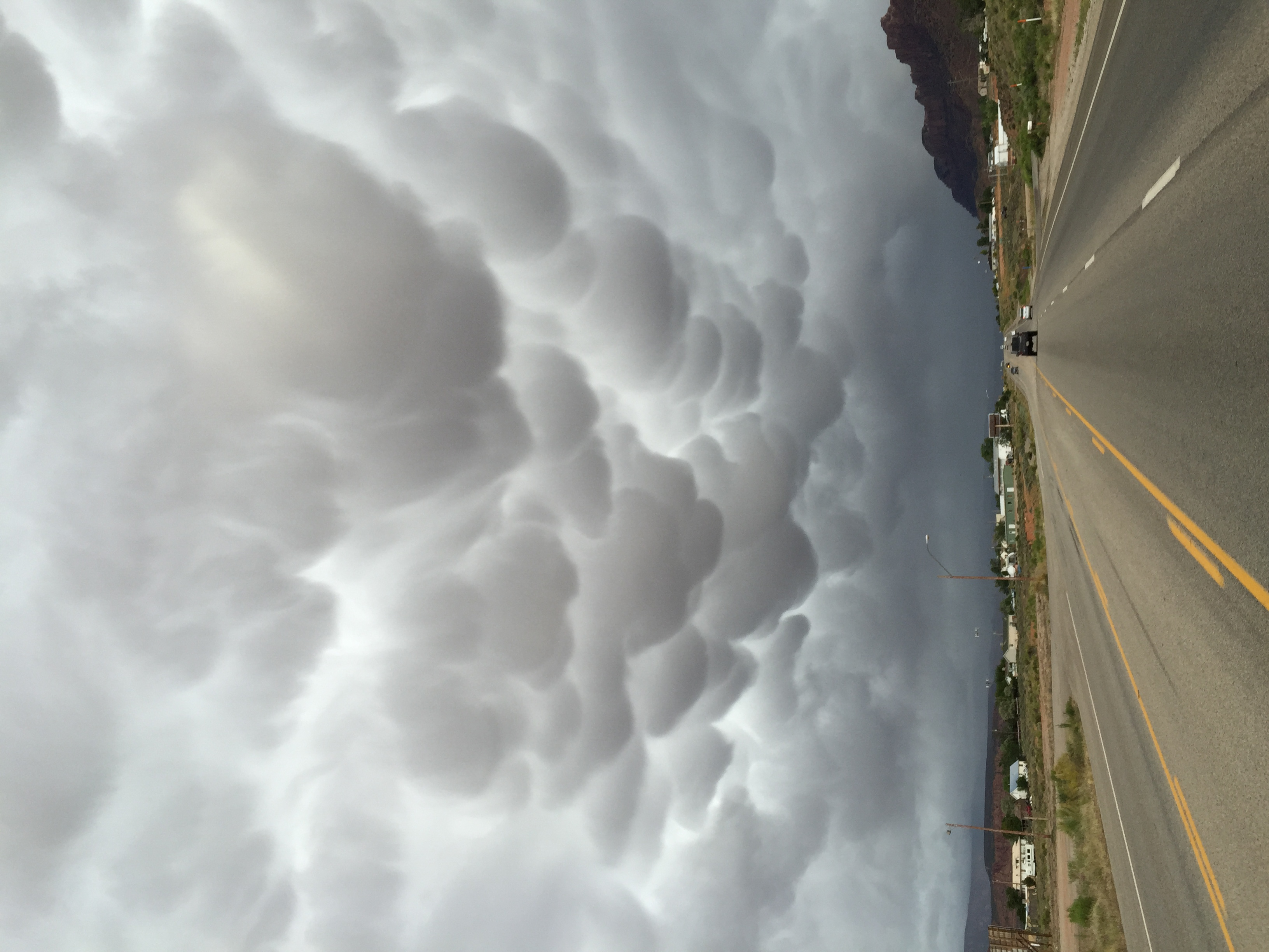 Have never seen anything like this. Some serious Cloud Porn!   Photo by Jeff Fox with iPhone (  @foxonarock  )