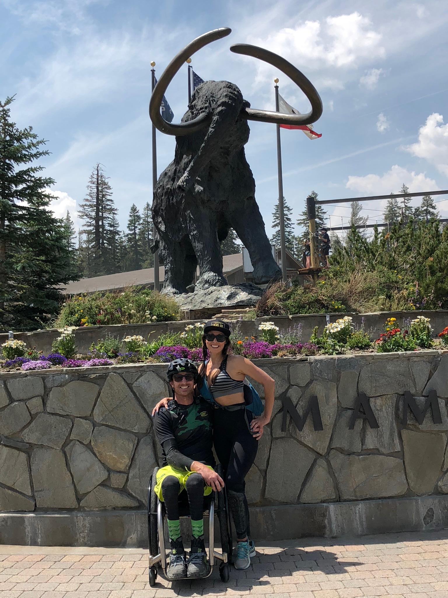 Mandatory photo op at the mammoth statue