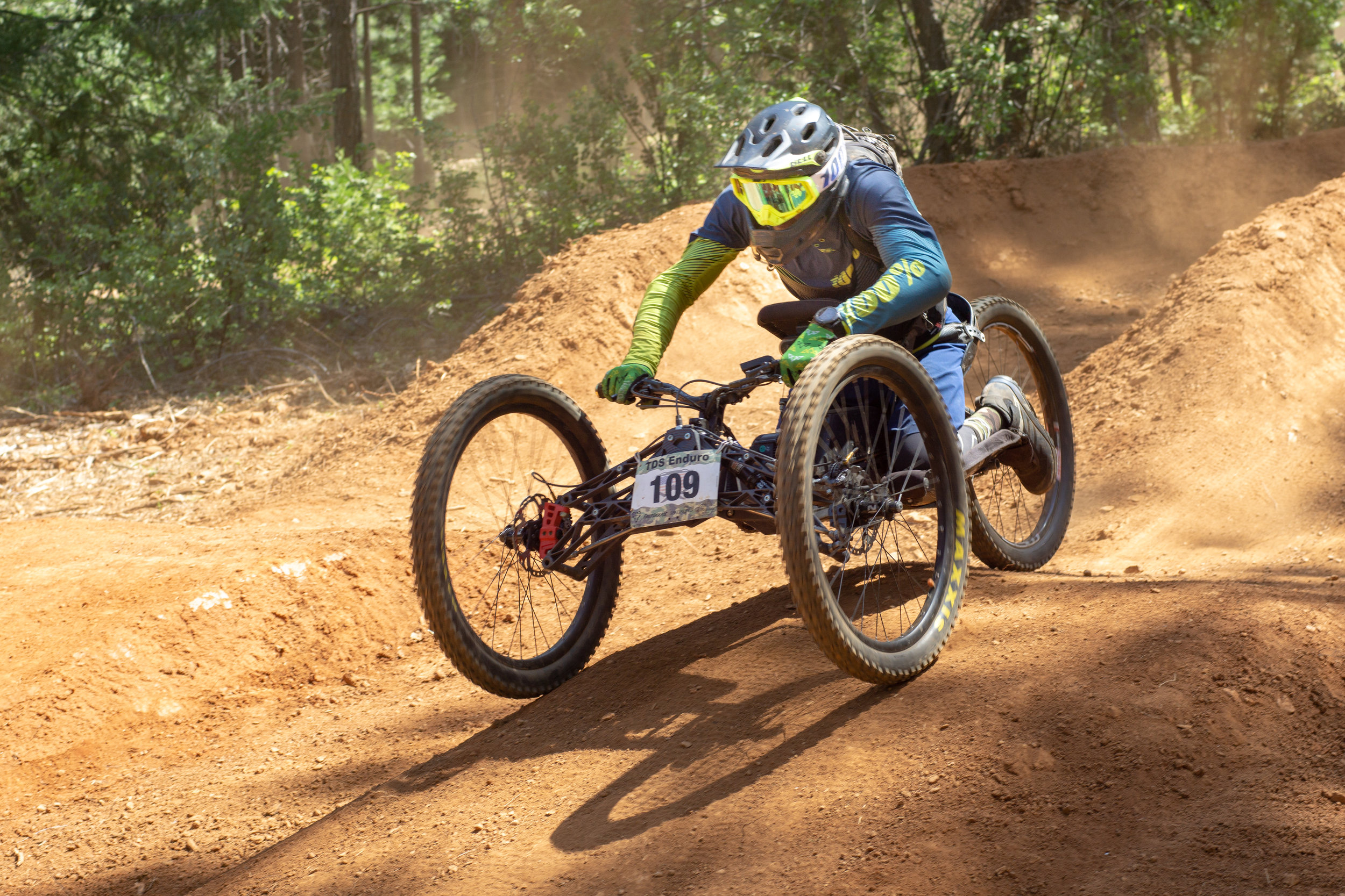 In full kit for the TDS Enduro, a private, invite only event in Grass Valley, CA