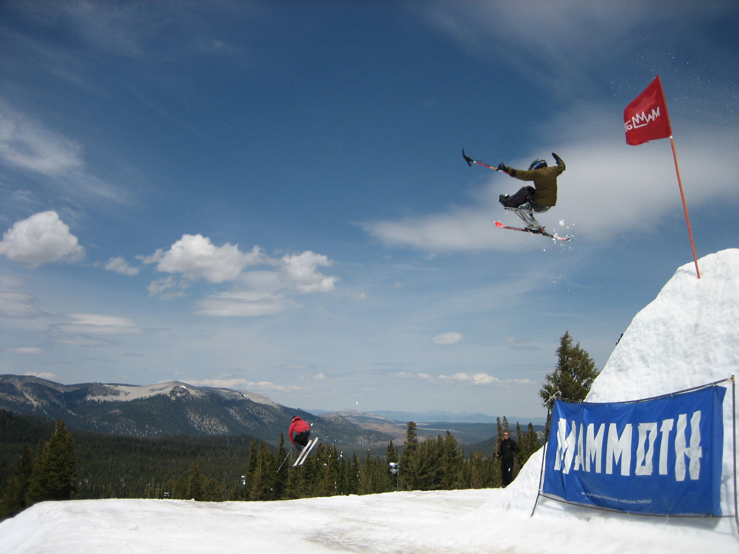 Absolutely sending it in at Mammoth Mountain in 2006