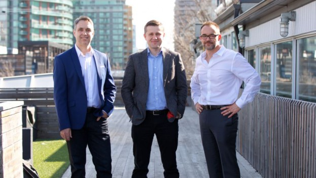 From left to right: Michael MacMillan, EVP at Provident Communications; Wojtek Dabrowski, founder and managing partner at Provident; and Nick Cowling, North American president at Citizen Relations.